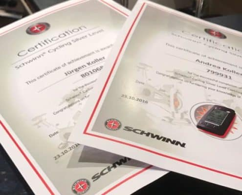 Schwinn Zertifikate